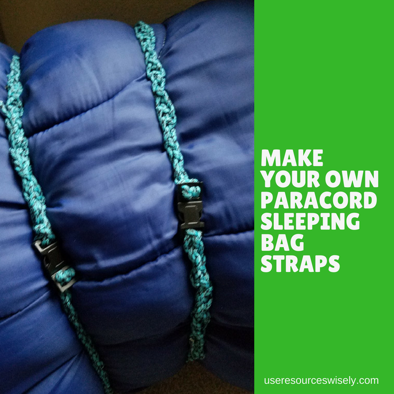 Diy paracord sleeping bag ties use resources wisely for Diy hammock straps paracord