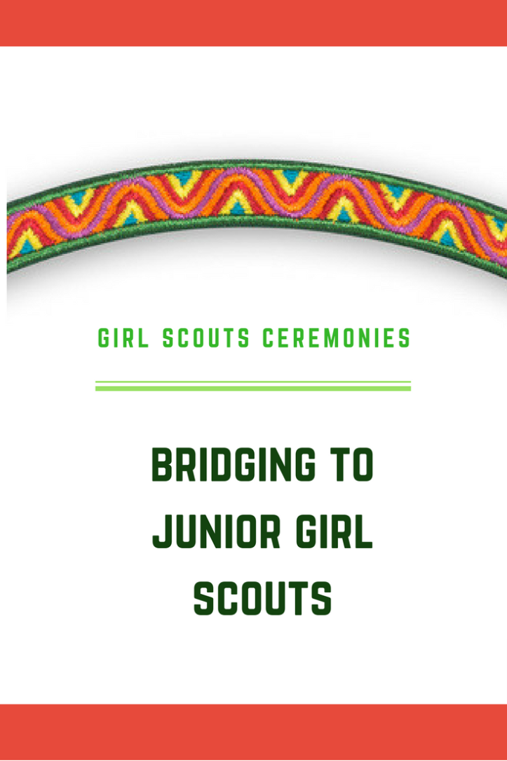 Bridging from Brownies to Junior Girl Scouts: A traditional bridging ceremony