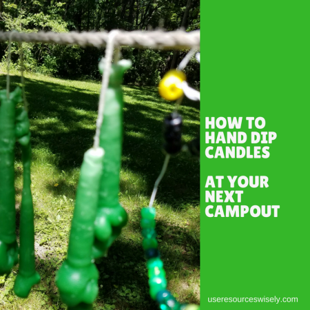How to hand dip candles at your next campout