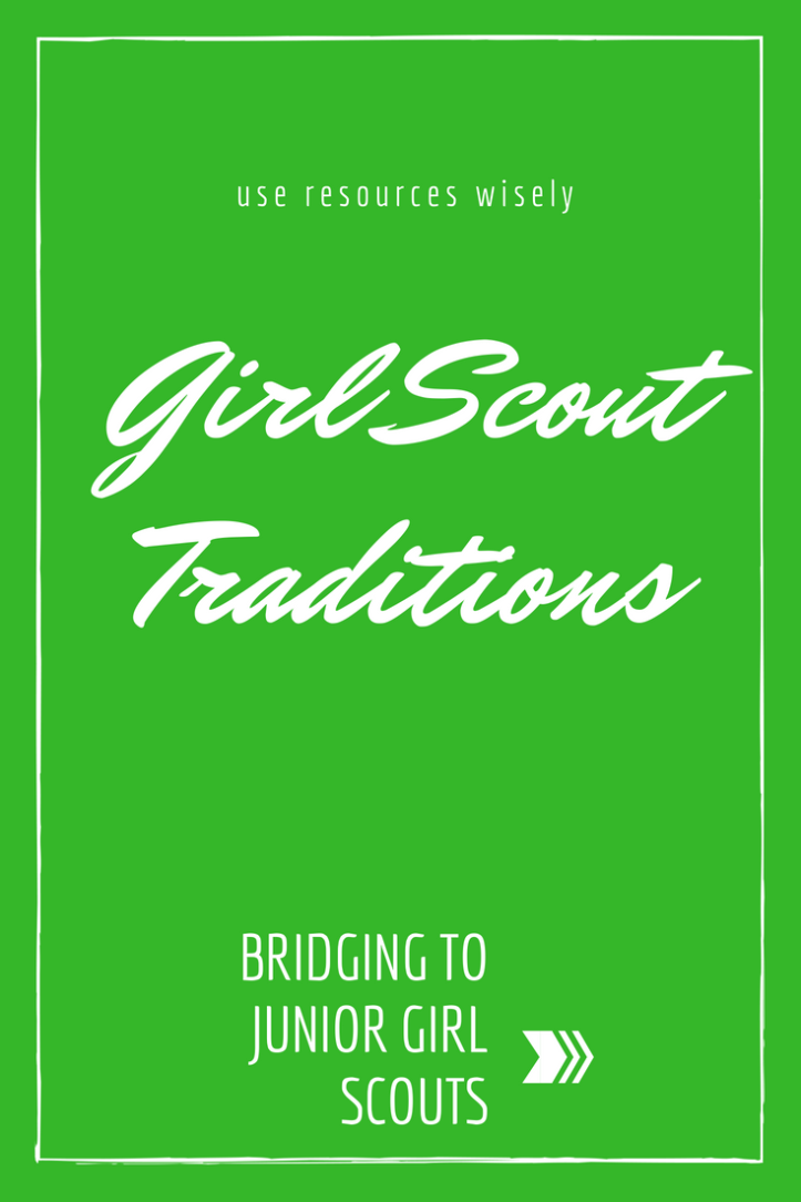 Bridging from Brownies to Junior Girl Scouts - a traditional bridging ceremony