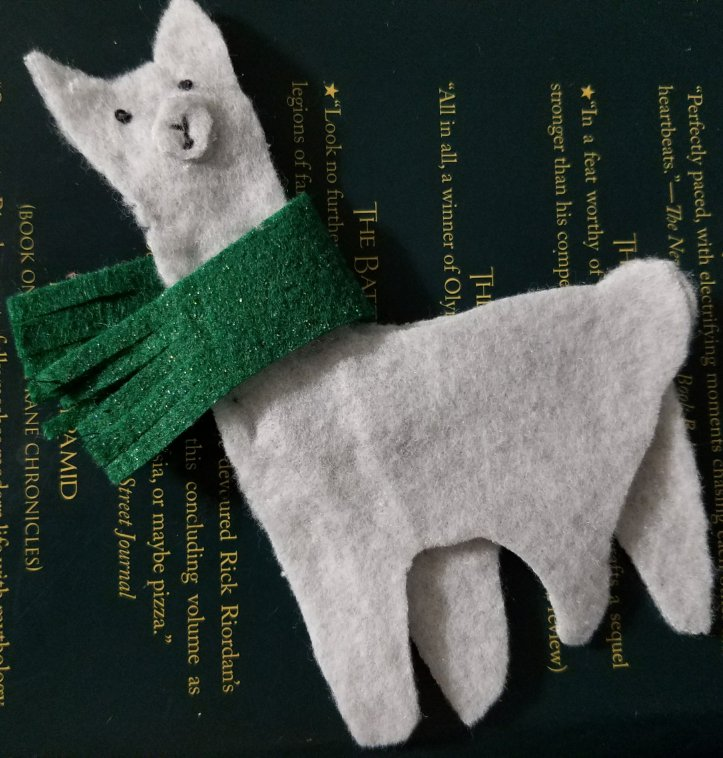 fleece llama ornament. Easy to sew.