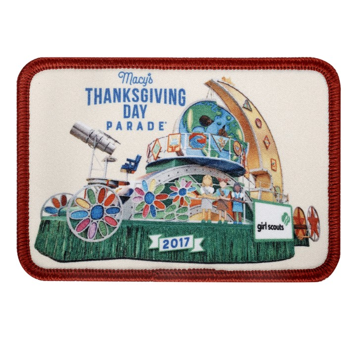 Girl Scout Thanksgiving Day Parade Patch 2017 - How to find requirements for the parade patch