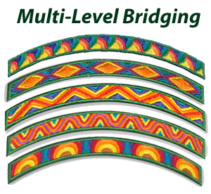 Multi-level bridging ceremony for Girl Scouts