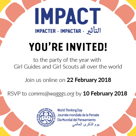 Thinking Day celebration online with Girl Guides and Girl Scouts from around the world Feb. 22, 2018