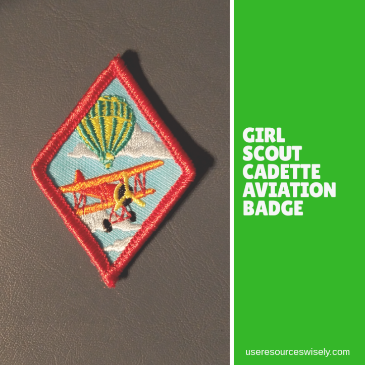Girl scout councils own aviation badge from Kentucky council