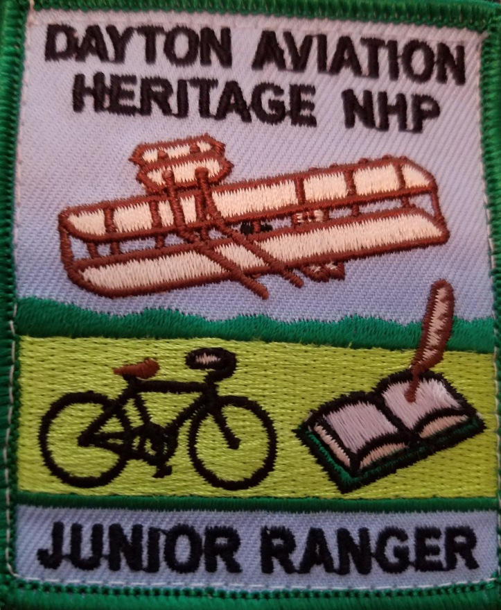 Dayton Aviation Heritage Junior Ranger Patch - Ohio National Parks