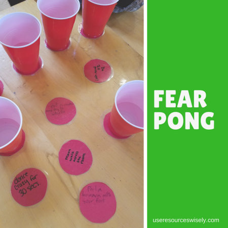 Fear Pong: A fun, kid friendly party game