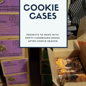 How to reuse all those empty Girl Scout cookie box cases