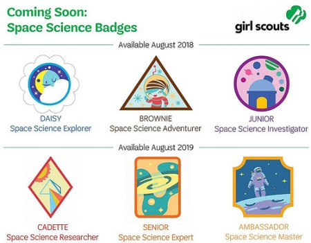 Girl Scout space badges coming in 2018-2019
