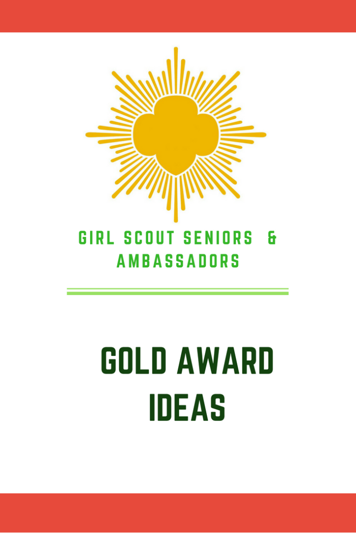 Girl Scout Gold Award ideas and inspiration for science, STEM and STEAM related projects