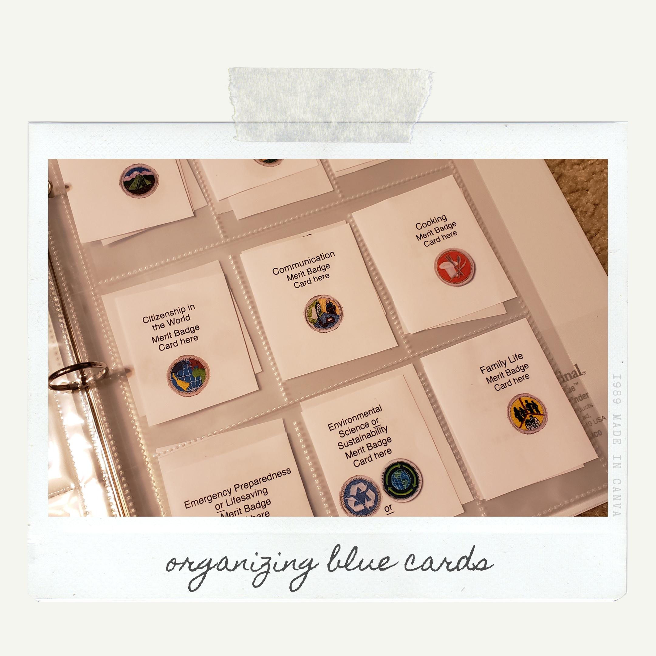 DIY Merit Badge Binder | Use Resources Wisely